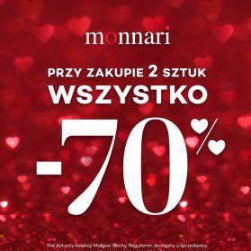 MONNARI -70% przy zakupie 2 sztuk