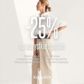 KappAhl -25% na wszystkie spodnie